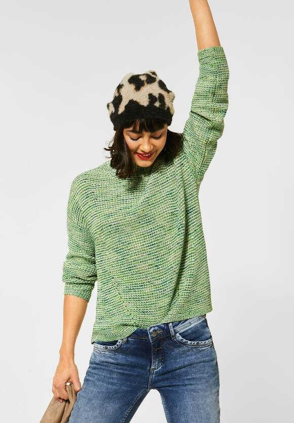 Street One | Mouline-Pullover | Farbe: sunny lime 32534, 301459