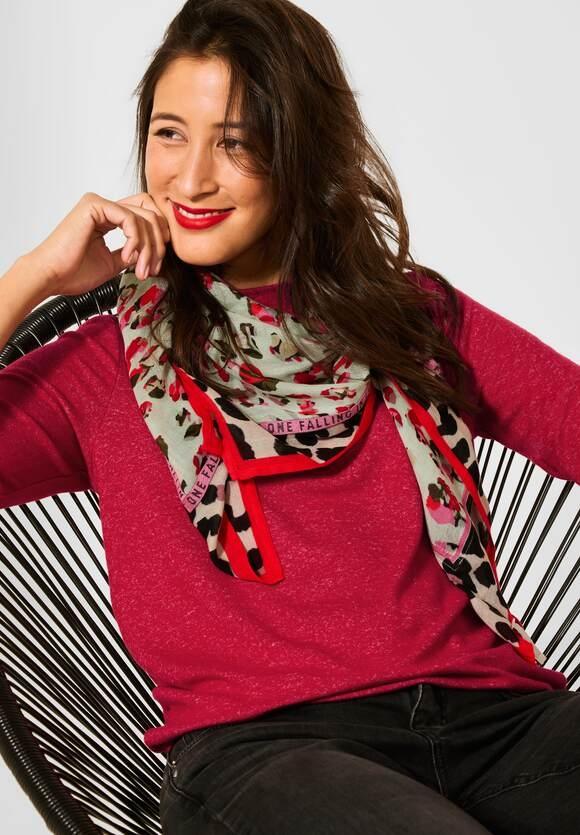 Street One   Softes Melange Shirt   Farbe: full red melange 13380, 317001