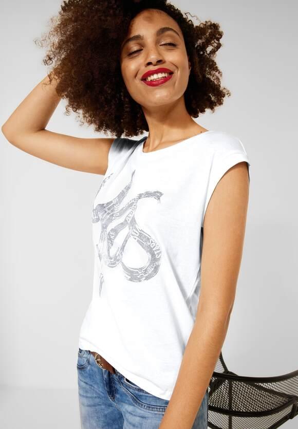 Street One   T-Shirt mit Schimmer Print   Farbe: white 20000, 316642