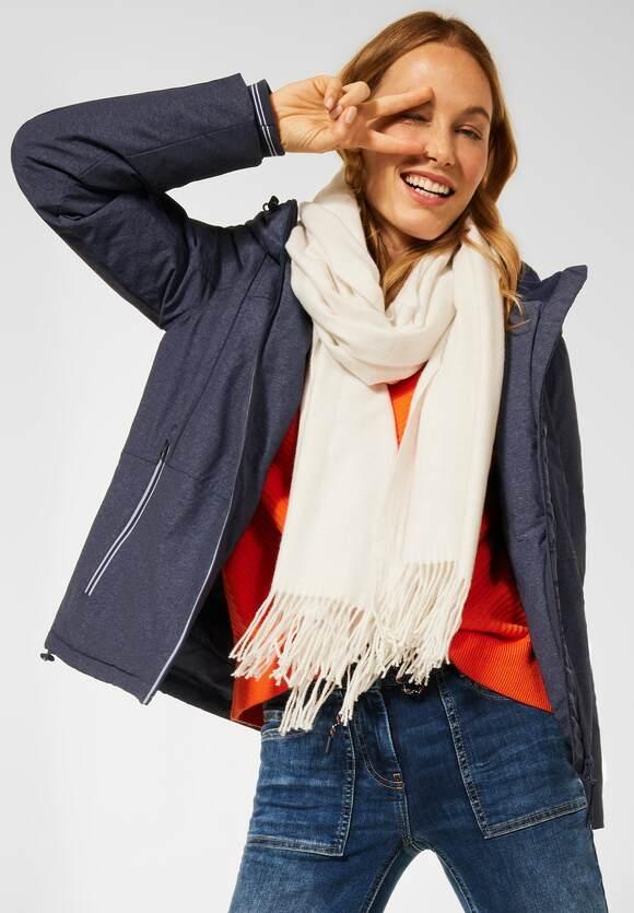 CECIL | Outdoor Jacke mit Kapuze | Farbe: deep blue melange 10157, 201577