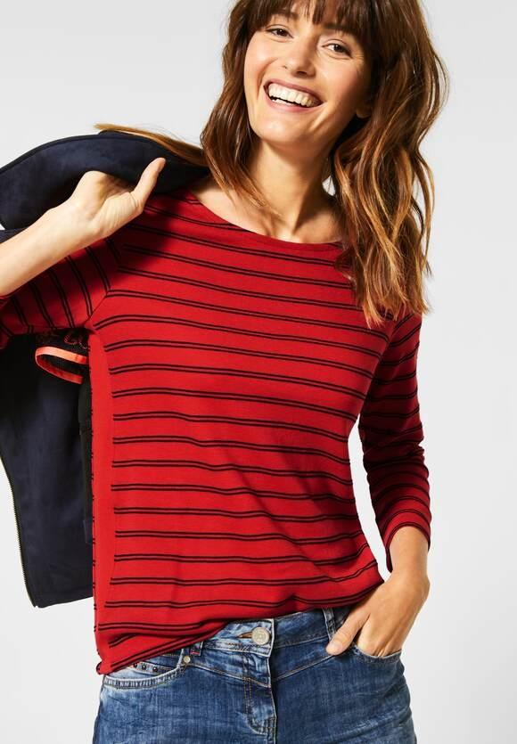 Cecil | Shirt mit Streifen | Farbe: pumpkin orange 22052, 315275