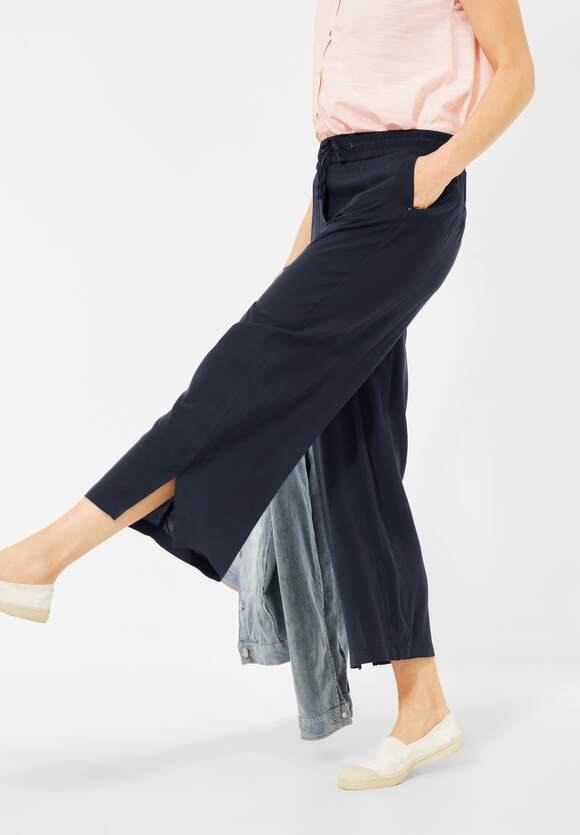 Cecil | Loose Fit Hose mit Wide Legs | Farbe: deep blue 10128, 374123