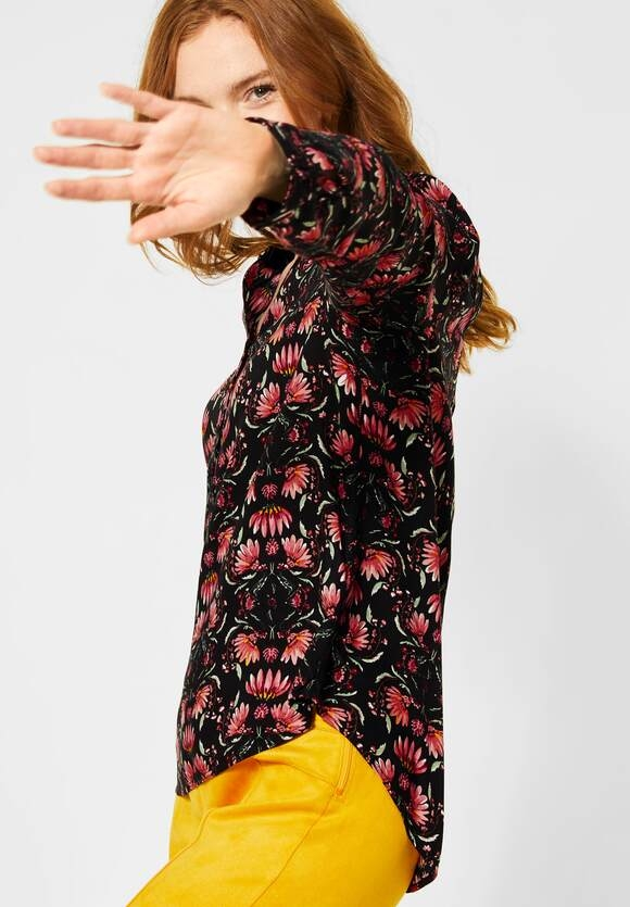 """Street One   Bluse """"Bamika"""" mit Muster   Farbe: black 30001, 342277"""