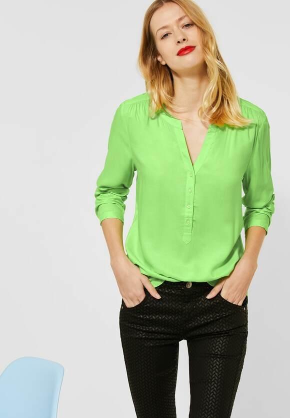 "Street One   Bluse ""Bamika"" im Basic Style   Farbe: sunny lime 12534, 342361"
