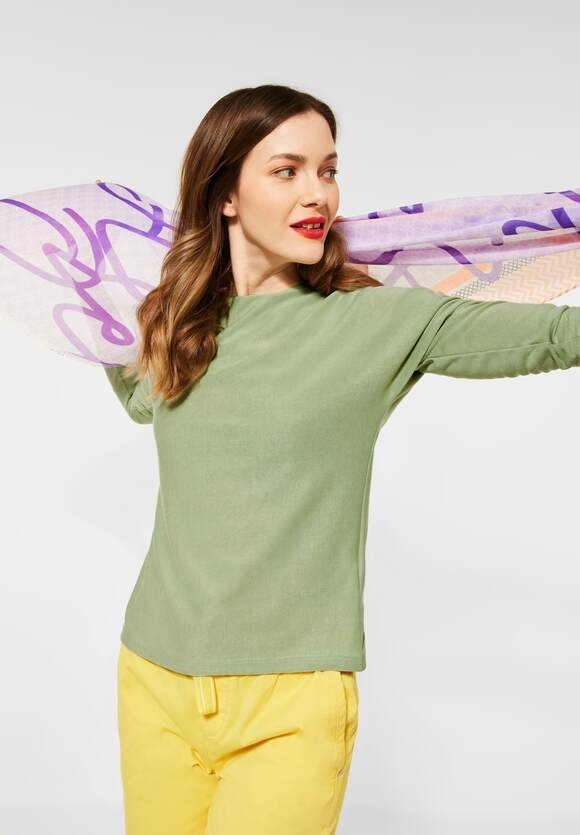 Street One | Shirt mit Raffungen | Farbe: faded green 12902, 316018