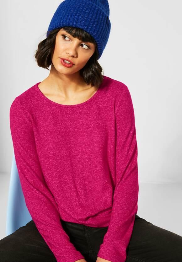 Street One   Shirt mit Knotendetail   Farbe: raspberry pink mel 12686, 315638