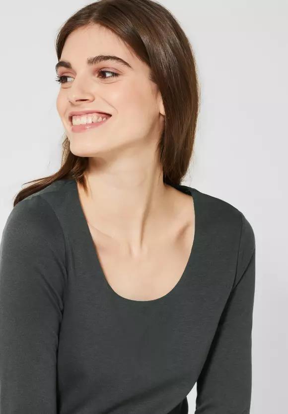 Street One I Basic Shirt Pania I Farbe: comfort green 12283, 313977