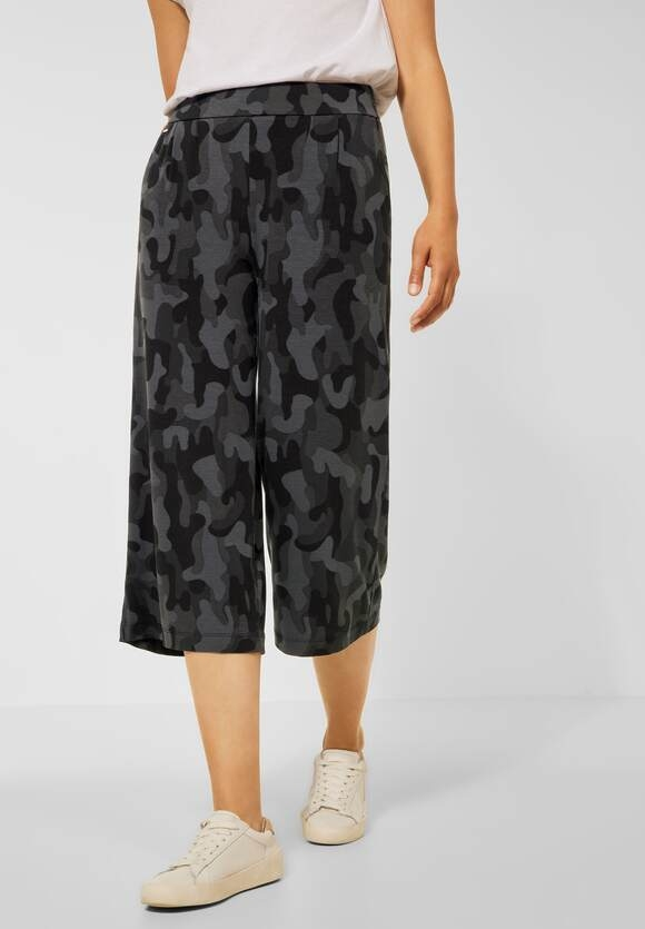 Street One | Loose Fit Hose mit Print | Farbe: carbon grey 33170, 374299