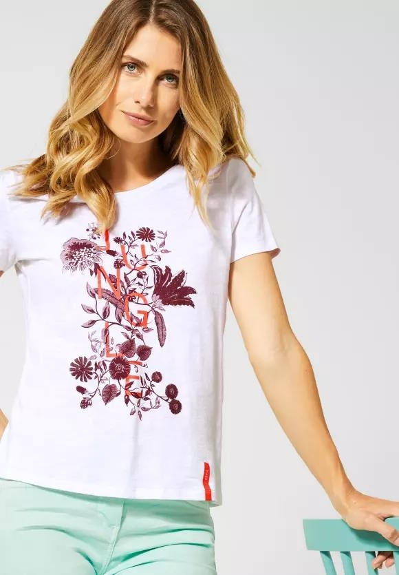 Cecil | T-Shirt mit Dschungel-Print | Farbe: white 30000, 315167
