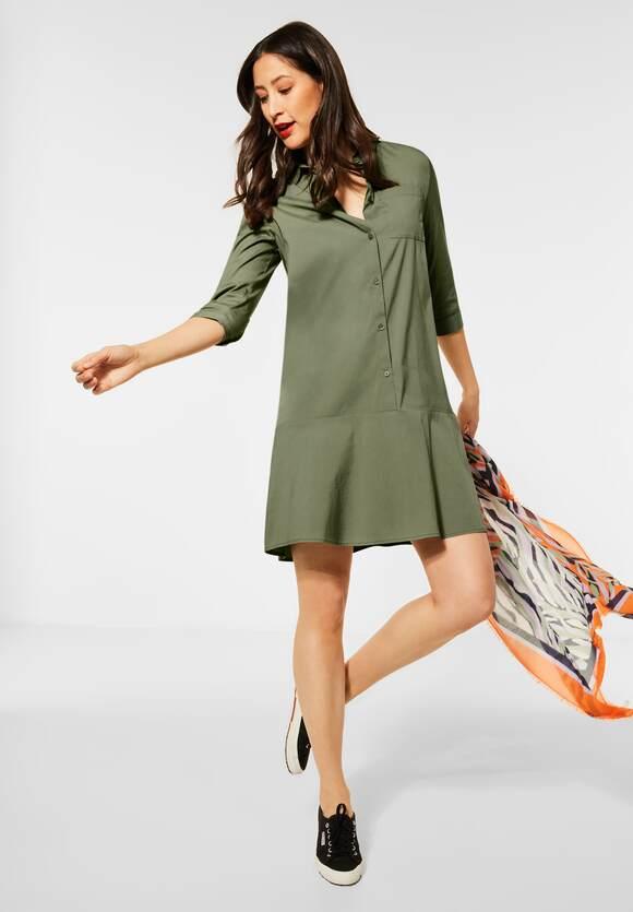 Street One Midi Kleid Mit Knopfleiste Farbe Smoky Green 12901 142888 Kleider Kleider Rocke Modemeile 24
