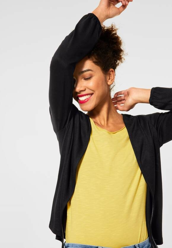 "Street One   Verschlusslose Shirtjacke ""Nette""   Farbe: black 10001, 316014"