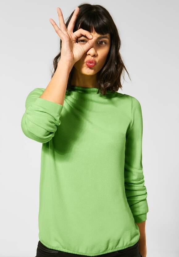 "Street One | Shirt ""Lena"" in Unifarbe | Farbe: sunny lime melange 12687, 315687"