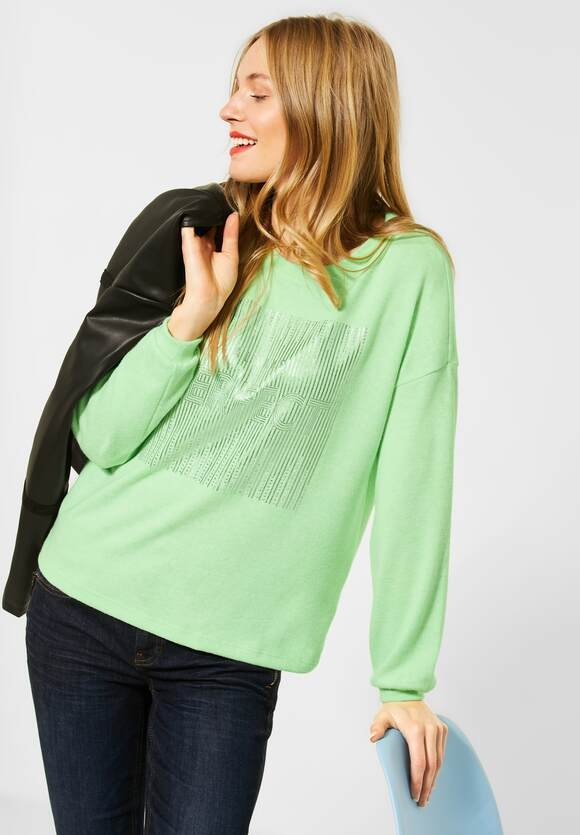 Street One | Softes Shirt mit Frontprint | Farbe frosted pistachio 22830, 315833