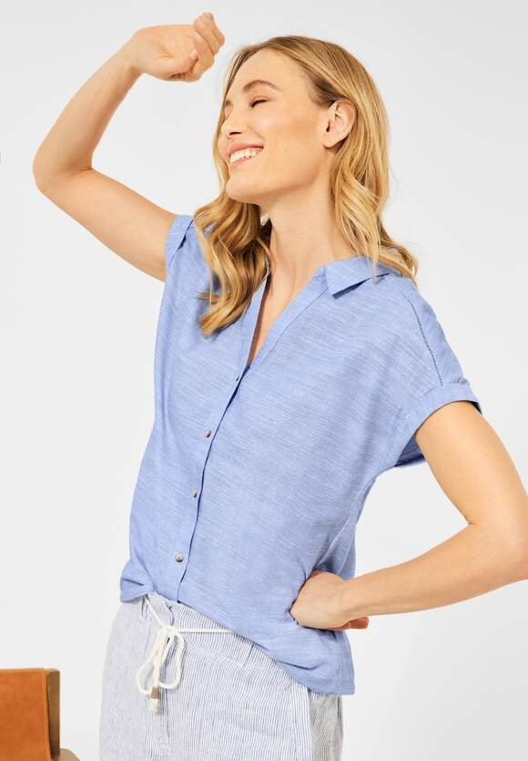 Cecil | Chambray Bluse | Farbe: blouse blue 21838, 342652