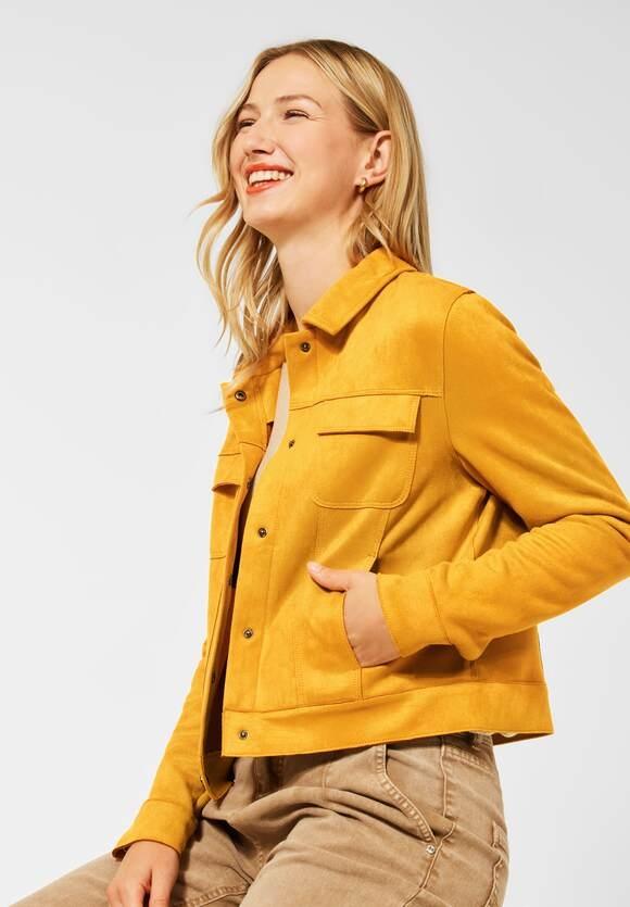 Street One | Jacke in Velours Optik | Farbe: sulphur yellow 13165, 211435