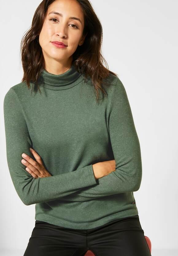 Street One | Shirt mit Rollkragen | Farbe: rich celadon mel 12568, 315500