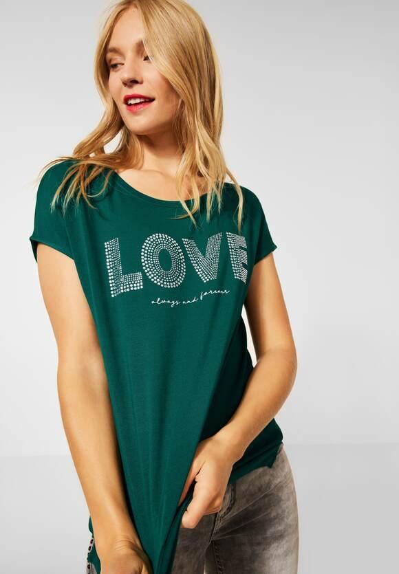Street One | T-Shirt mit Aufschrift | Farbe: ivy green 33167, 316656