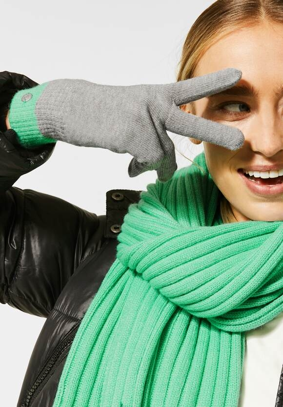 Cecil | Feinstrick-Handschuhe | Farbe: mineral grey melange 20327, 571320