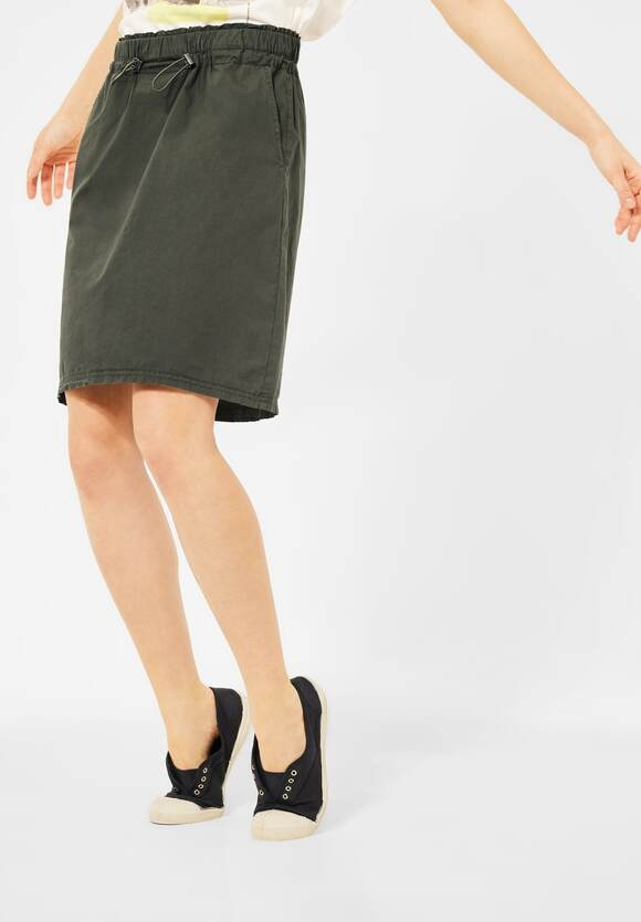 Cecil | Mini Rock mit Paperbag Touch | Farbe: utility olive 13036, 360845