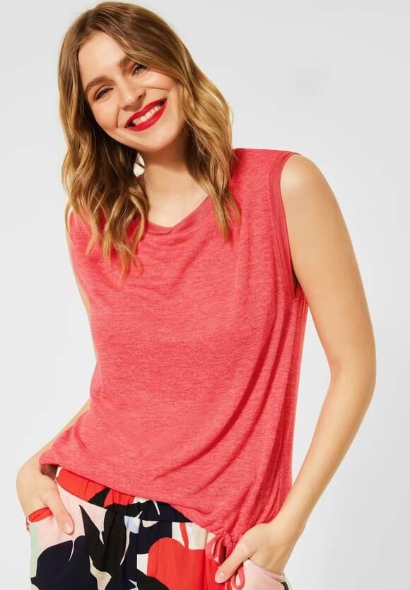 Street One | T-Shirt im Leinen Look | Farbe: red fury 12991, 316277