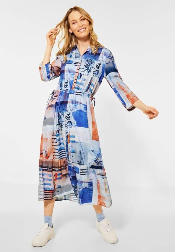 Cecil | Maxi-Kleid mit Print | Farbe: provence blue 32865, 142896