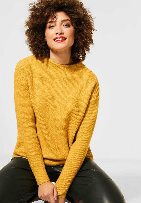 Street One | Grobstrick-Pullover | Farbe: amber yellow melange 12461, 301361