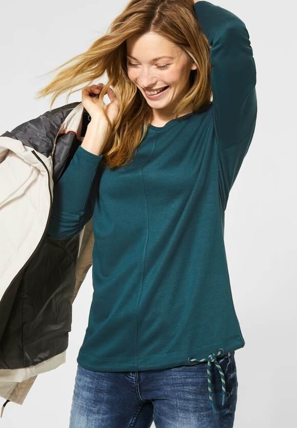 Cecil | Shirt mit leichter Struktur | Farbe: atlantic green 12523, 315453