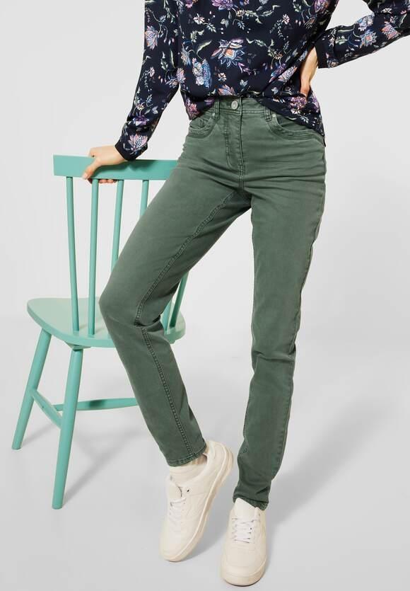 "Cecil | Denim ""Toronto"" im Colour Style | Farbe: soft khaki 12646, 373797"