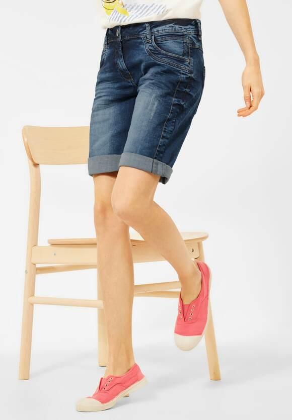 "Cecil   Blaue Loose Fit Shorts ""Scarlett""   Farbe: mid blue 10240, 374104"