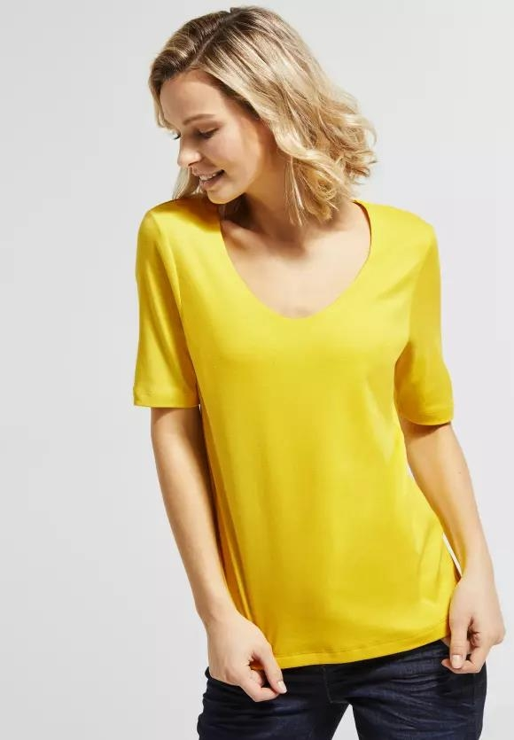Street One I Basic Shirt Palmira I Farbe: sunshine yellow 12201, 313105