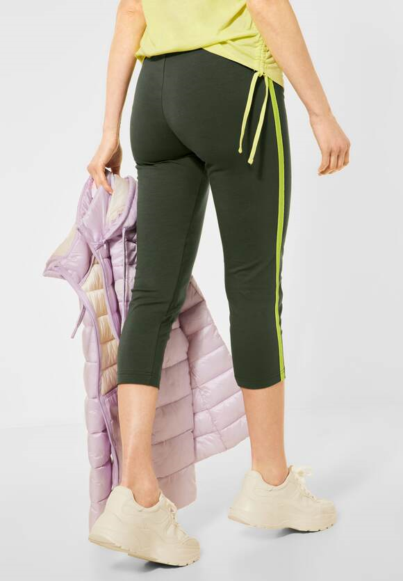 Cecil | Leggings mit Mesh Detail | Farbe: utility olive 23036, 374017