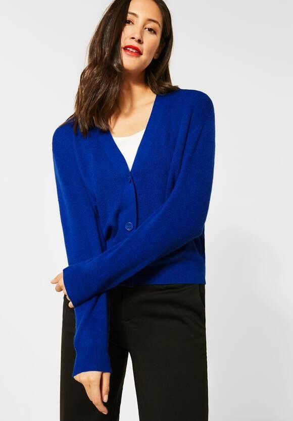 Street One | Cardigan mit Knöpfen | Farbe: cobalt blue mel 12685, 253081