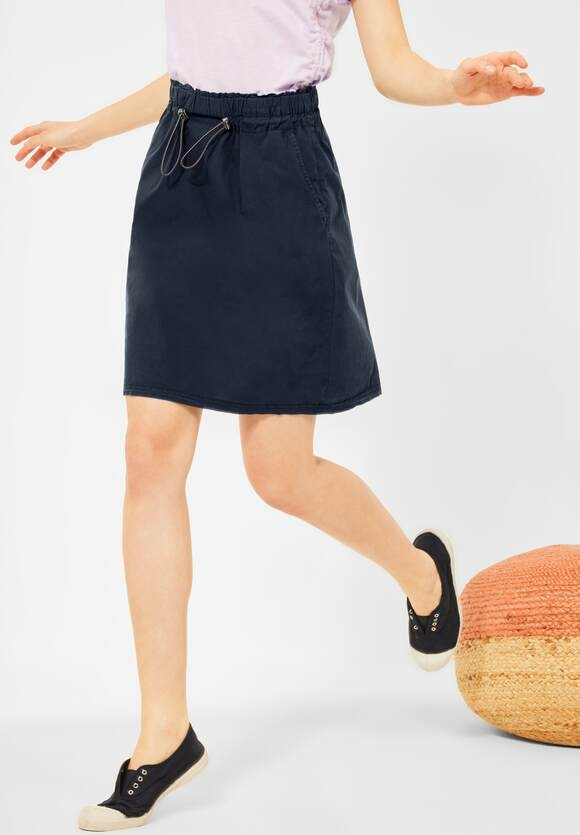 Cecil | Mini Rock mit Paperbag Touch | Farbe: deep blue 10128, 360845
