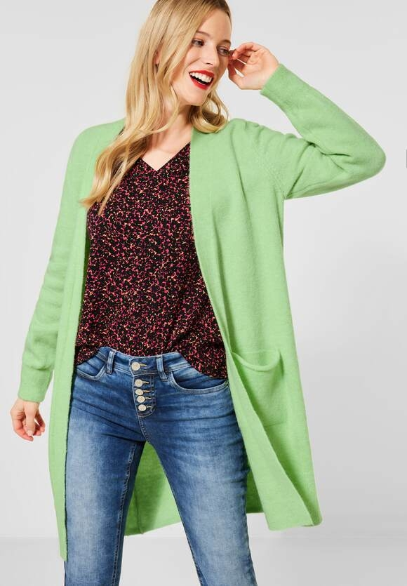 Street One   Lange Strickjacke in Uni   Farbe: frosted pistachio 12828, 253187