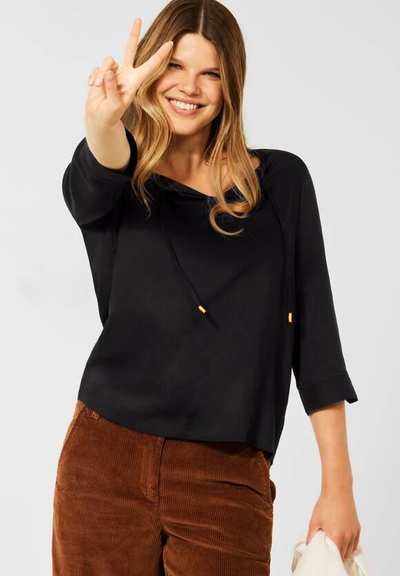 CECIL | Bluse in Unifarbe | Farbe: black 10001, 342825