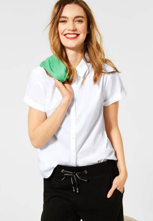 Street One | Bluse mit Hemdkragen | Farbe: white 10000, 342613