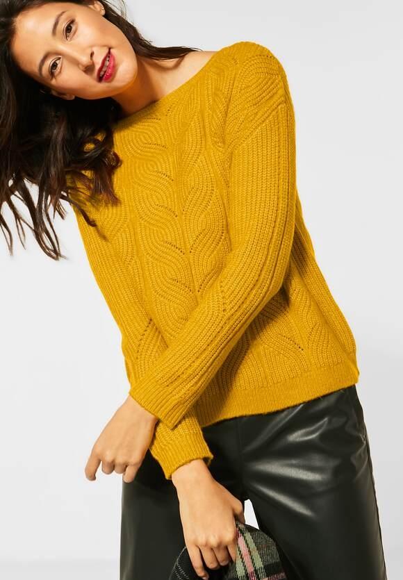 Street One | Pulli aus Grobstrick | Farbe: amber yellow melange 12461, 301360