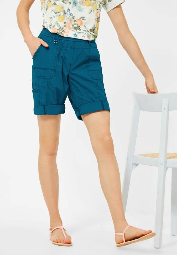 """Cecil   Loose Fit Shorts """"Jessy"""" in Unifarbe   Farbe: deep lagoon 13104, 374116"""