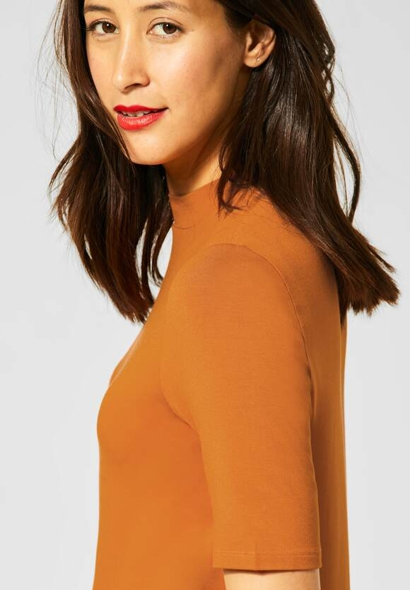 Street One | Shirt mit Stehkragen | Farbe: foxy caramel 12467, 315258