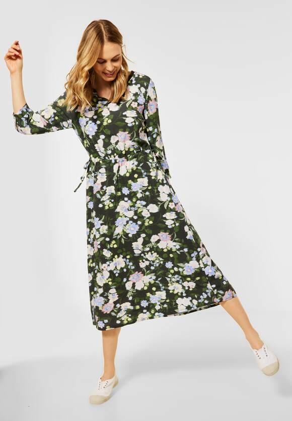Cecil   Midi Kleid mit Blumen Print   Farbe: utility olive 33036, 142925