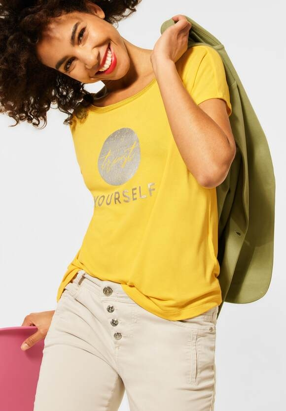 Street One | T-Shirt mit Folienprint | Farbe: sunlit yellow 32904, 316120