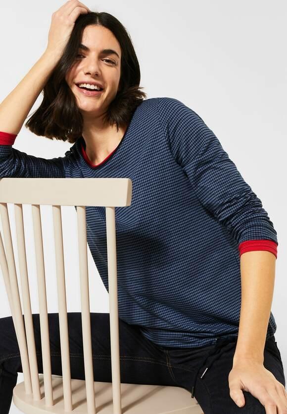 Cecil | Shirt mit Vichy-Karo | Farbe: deep blue 20128, 315718