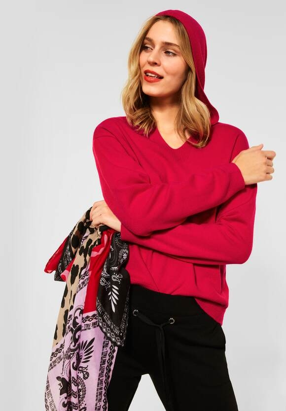Street One | Pullover im Hoodie Style | Farbe: full red 13319, 301591