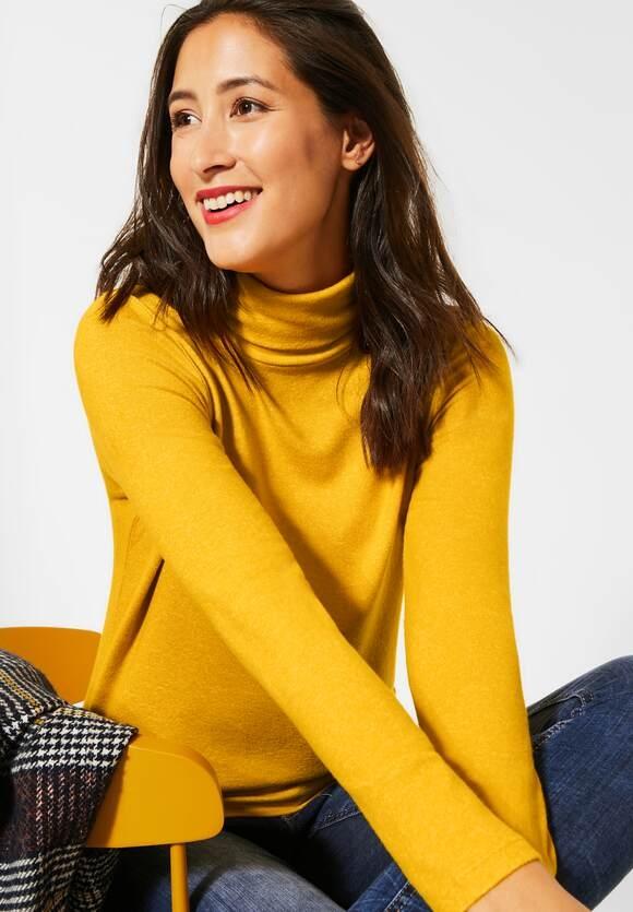 Street One | Shirt mit Rollkragen | Farbe: amber yellow mel 12461, 315542
