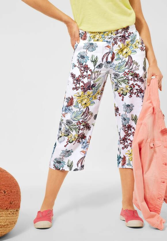 Cecil | Loose fit Hose mit Wide Legs | Farbe: white 30000, 373847