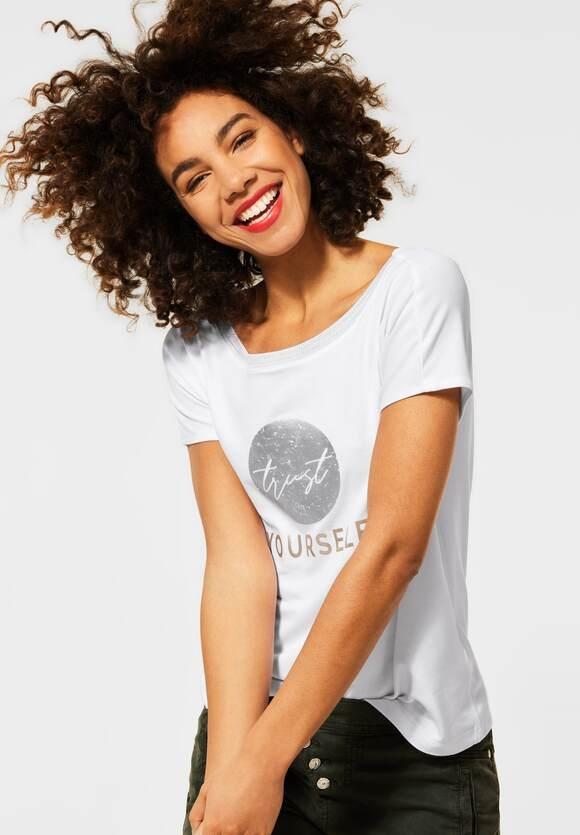 Street One | Shirt mit Frontprint | Farbe: white 30000, 316088