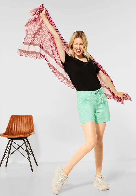 """Street One   Loose Fit Shorts """" Bonny"""" in Unifarbe   Farbe: menthe green 13108, 374060"""