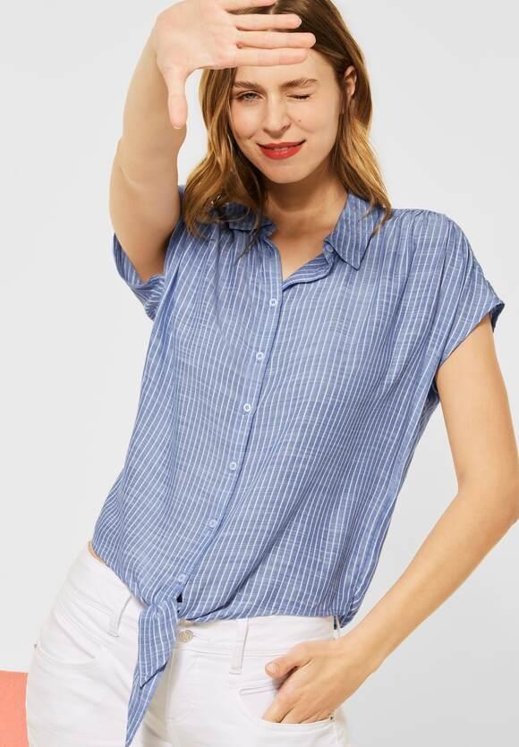 Street One | Bluse mit Streifen Muster | Farbe: original blue 22289, 342685