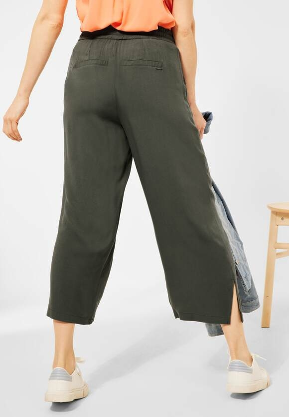 Cecil | Loose Fit Hose mit Wide Legs | Farbe: utility olive 13036, 374123