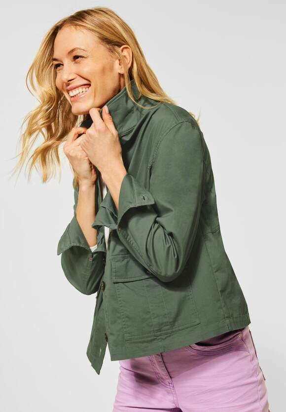 Cecil | Kurze Military-Jacke | Farbe: soft khaki 12646, 211314